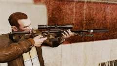 Fusil de sniper AW L115A1 avec un v10 de silenci