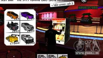Slot BAR The JVTs tuning cars pour GTA San Andreas