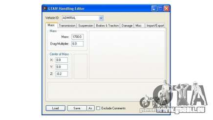 Handling Editor 1.2 pour GTA 4