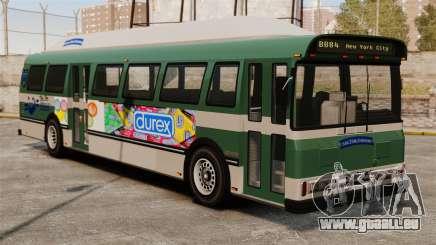 Die neue Werbung auf dem bus für GTA 4