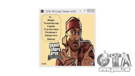 Crazy Trainer 350 v2.41 SA:MP pour GTA San Andreas
