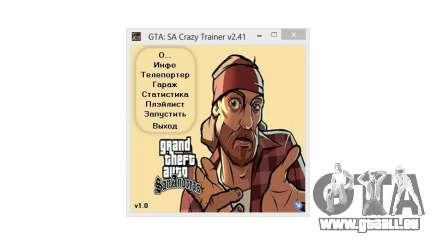 Crazy Trainer 350 v2.41 SA:MP für GTA San Andreas