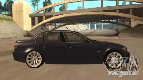BMW 330 e90 für GTA San Andreas zurück linke Ansicht