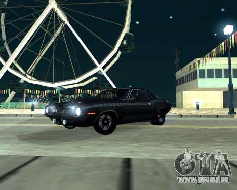 Plymouth Hemi Cuda 440 pour GTA San Andreas laissé vue