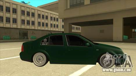 VW Bora für GTA San Andreas zurück linke Ansicht