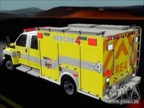 GMC C4500 Topkick BCFD Rescue 4 für GTA San Andreas Motor