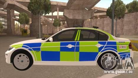 European Emergency BMW 330 für GTA San Andreas zurück linke Ansicht