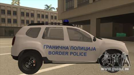 Dacia Duster Granična Policija wurde für GTA San Andreas zurück linke Ansicht