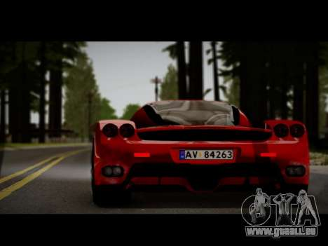 Ferrari Enzo pour GTA San Andreas sur la vue arrière gauche