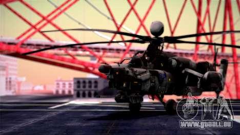 Mi-28N Havoc für GTA San Andreas zurück linke Ansicht