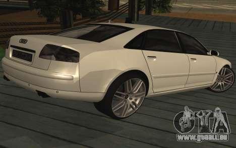 Audi A8L D3 pour GTA San Andreas laissé vue