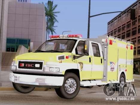 GMC C4500 Topkick BCFD Rescue 4 für GTA San Andreas Seitenansicht