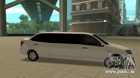 Lada Granta Limousine pour GTA San Andreas laissé vue