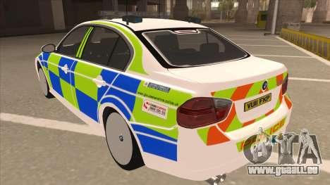 European Emergency BMW 330 für GTA San Andreas Rückansicht