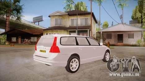 Volvo V70 Unmarked Police pour GTA San Andreas vue de droite
