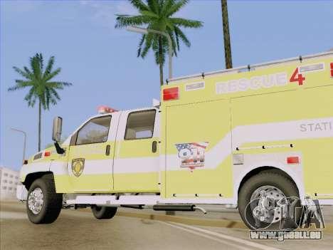 GMC C4500 Topkick BCFD Rescue 4 für GTA San Andreas obere Ansicht