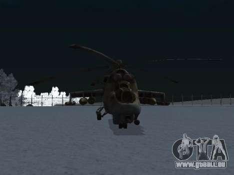 Le MI-24p pour GTA San Andreas vue de droite
