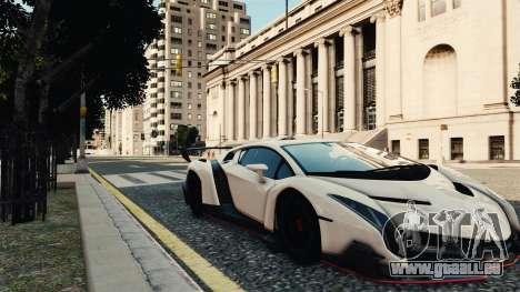 Lamborghini Veneno pour GTA 4 Vue arrière de la gauche