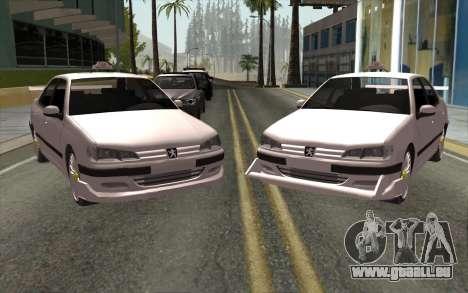 Peugeot 406 Taxi v2 pour GTA San Andreas laissé vue