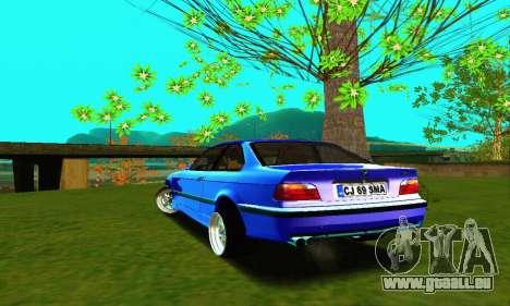 BMW E36 Low and Slow pour GTA San Andreas sur la vue arrière gauche