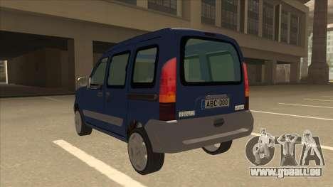 RENAULT KANGOO v2 pour GTA San Andreas vue arrière