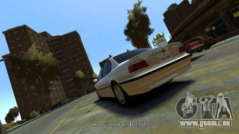 BMW 750iL pour GTA 4 Vue arrière de la gauche