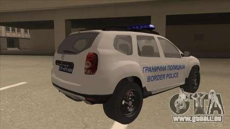 Dacia Duster Granična Policija wurde für GTA San Andreas rechten Ansicht