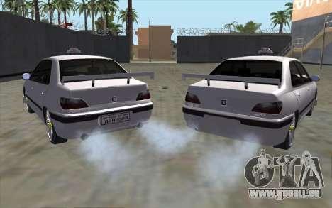 Peugeot 406 Taxi v2 pour GTA San Andreas sur la vue arrière gauche