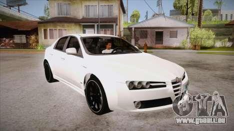 Alfa Romeo 159 für GTA San Andreas Rückansicht