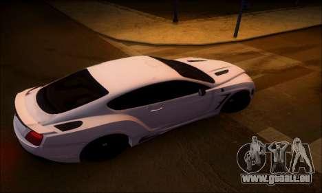 Bentley Continental GT für GTA San Andreas zurück linke Ansicht