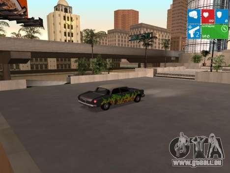 Graffity Glendale pour GTA San Andreas sur la vue arrière gauche