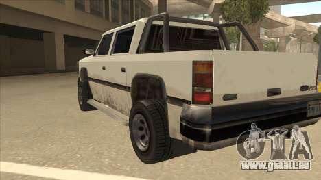 Declasse Rancher FXT pour GTA San Andreas vue arrière