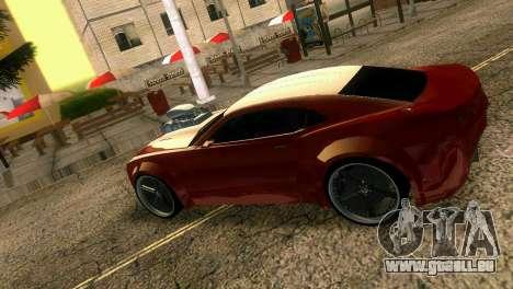 Chevrolet Camaro JR Tuning pour GTA Vice City vue arrière