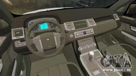 Range Rover Sport Autobiography 2013 Vossen pour GTA 4 est une vue de l'intérieur