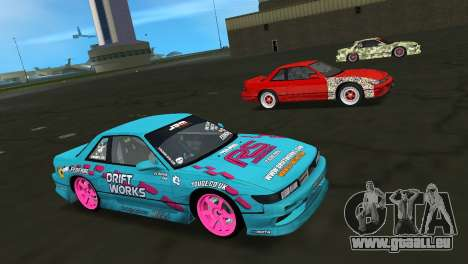 Nissan Silvia S13 Drift Works für GTA Vice City Innenansicht