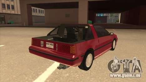 Nissan EXA L.A. Version pour GTA San Andreas vue de droite