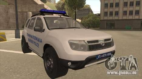 Dacia Duster Granična Policija wurde für GTA San Andreas linke Ansicht