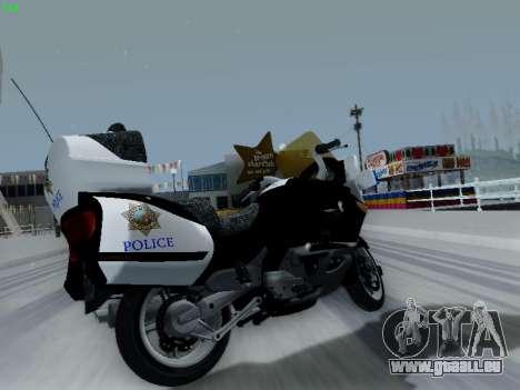 BMW K1200LT Police pour GTA San Andreas