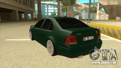 VW Bora pour GTA San Andreas vue arrière