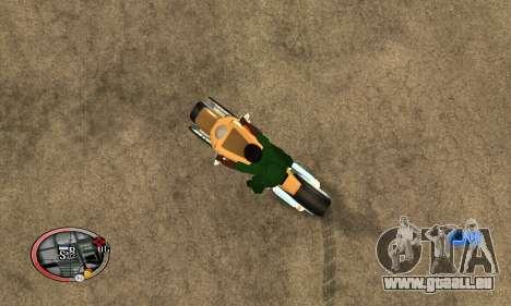 Tadpole Motorcycle pour GTA San Andreas laissé vue