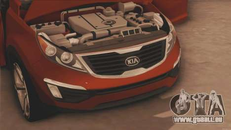 Kia Sportage für GTA San Andreas zurück linke Ansicht