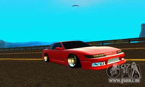 Nissan Silvia S13 HellaDrift pour GTA San Andreas vue intérieure