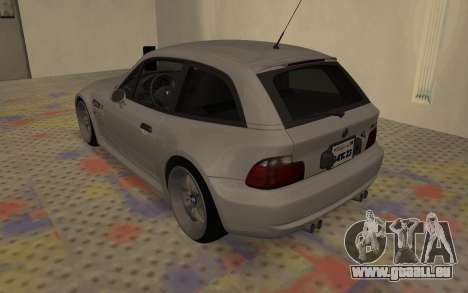 BMW Z3 M Power 2002 pour GTA San Andreas sur la vue arrière gauche