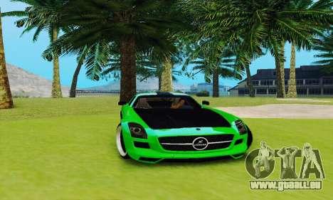 Mercedes SLS AMG 2010 Hamann v2.0 pour GTA San Andreas vue arrière