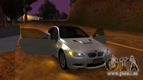 BMW M3 E92 für GTA San Andreas Seitenansicht