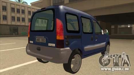 RENAULT KANGOO v2 pour GTA San Andreas vue de droite