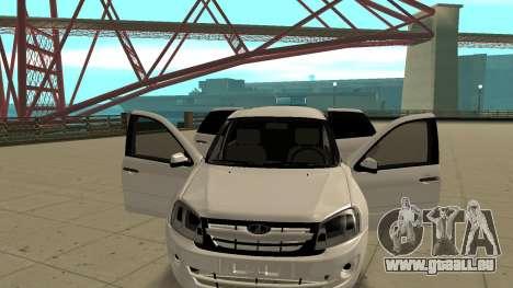 Lada Granta Limousine pour GTA San Andreas vue arrière