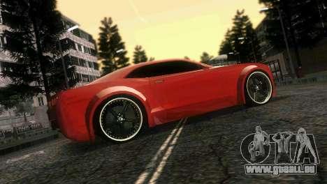 Chevrolet Camaro JR Tuning pour une vue GTA Vice City d'en haut