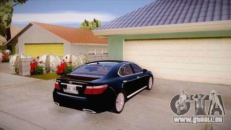 Lexus LS 600h L für GTA San Andreas rechten Ansicht