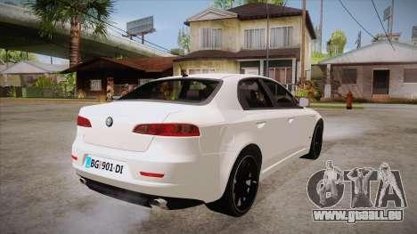 Alfa Romeo 159 pour GTA San Andreas vue de droite